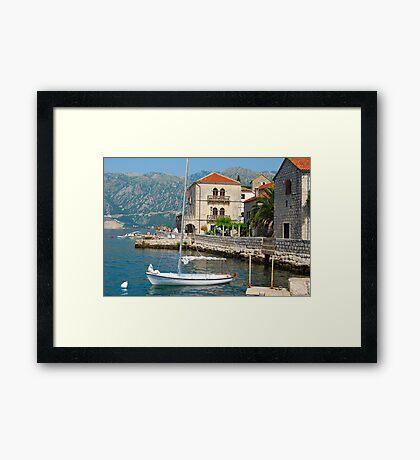 Perast, Montenegro Framed Print