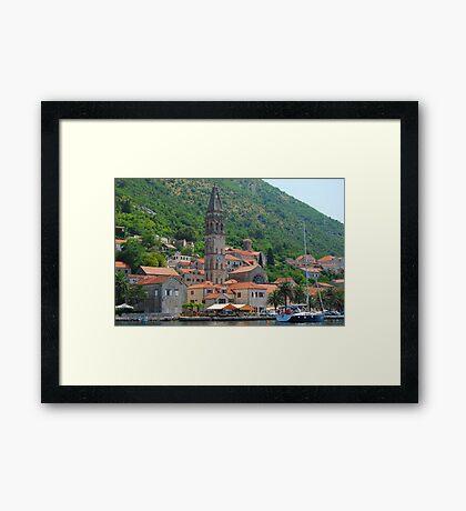 Perast Panorama Framed Print