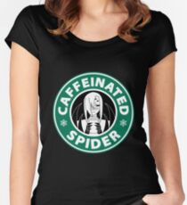 "Rachnera ""Caffeinated Spider"" Logo Women's Fitted Scoop T-Shirt"