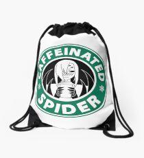 "Rachnera ""Caffeinated Spider"" Logo Drawstring Bag"