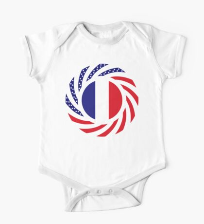 French American Multinational Patriot Flag Series Kids Clothes