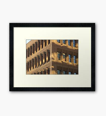 Sunrise At The Office Framed Print