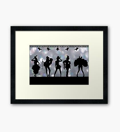 Welcome to Burlesque Framed Print