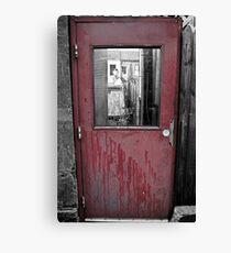 The door to the town Canvas Print