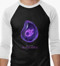 Soul of the Black Mage -black Men's Baseball ¾ T-Shirt