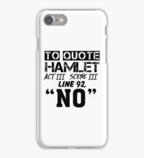 Hamlet - William Shakespeare's play iPhone Case/Skin