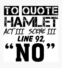 Hamlet - William Shakespeare's play Photographic Print
