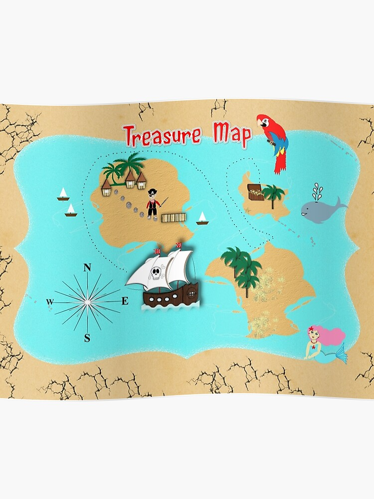 Pirates Secret Hidden Treasure Themed Map | Poster on second world map, 9gag map, surreal map, shout map, montreal tunnel map, whimsyshire map, carpathian fangs map, my story map, jea map, myanmar's map, invisible map, spica map, unidentified map, obscure map, hitler's map, secant map, shadowy forest map, credo map, aoa map, u.s. immigration map,