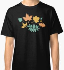 Black and Pastel Leaves Pattern Classic T-Shirt