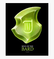 Soul of the Bard -black Photographic Print