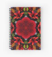 MANTEL BOUQUET – RED MANDALA Spiral Notebook