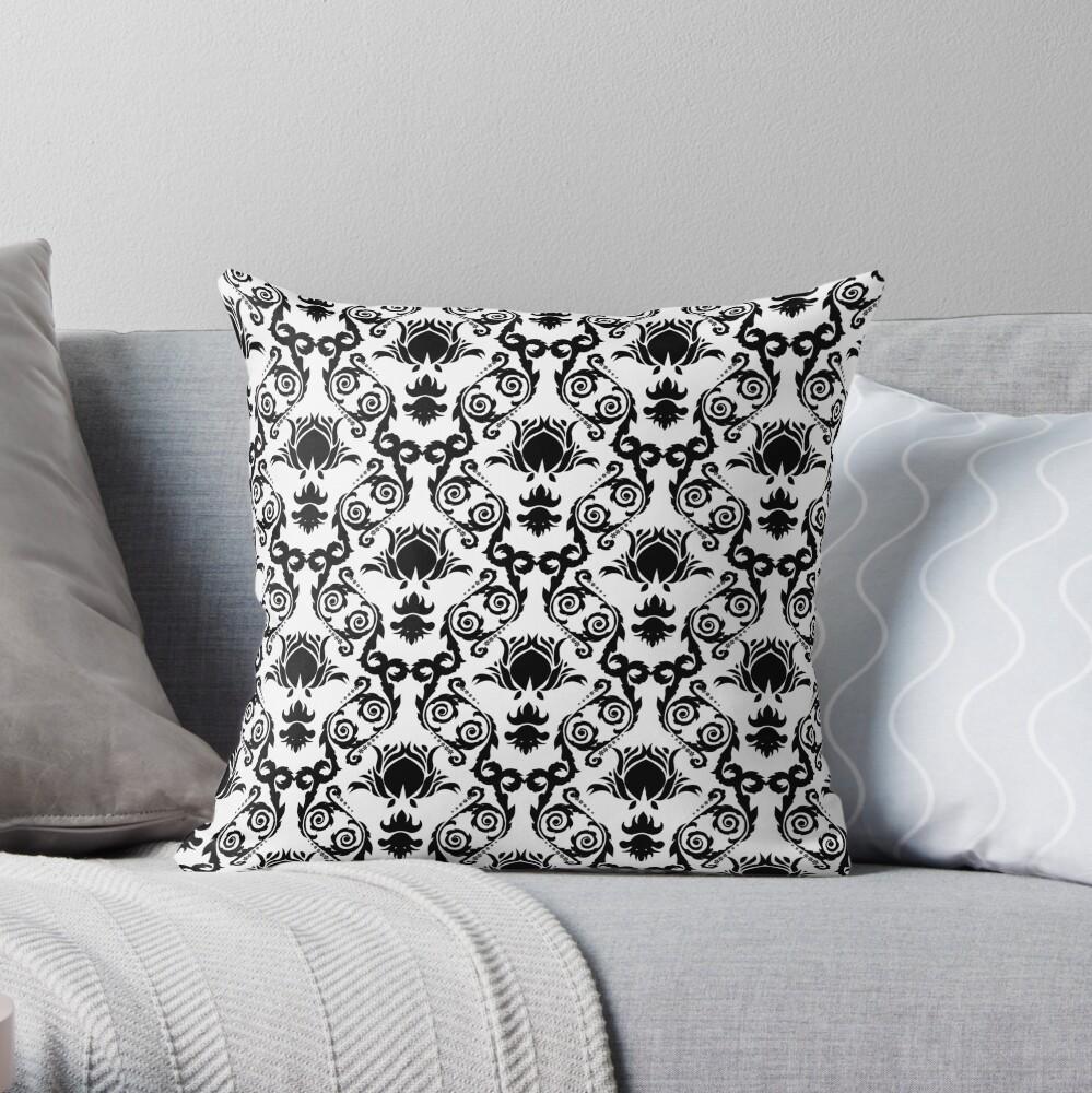 Damask wallpaper  Throw Pillow