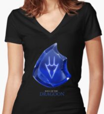 Soul of the Dragoon -black Women's Fitted V-Neck T-Shirt