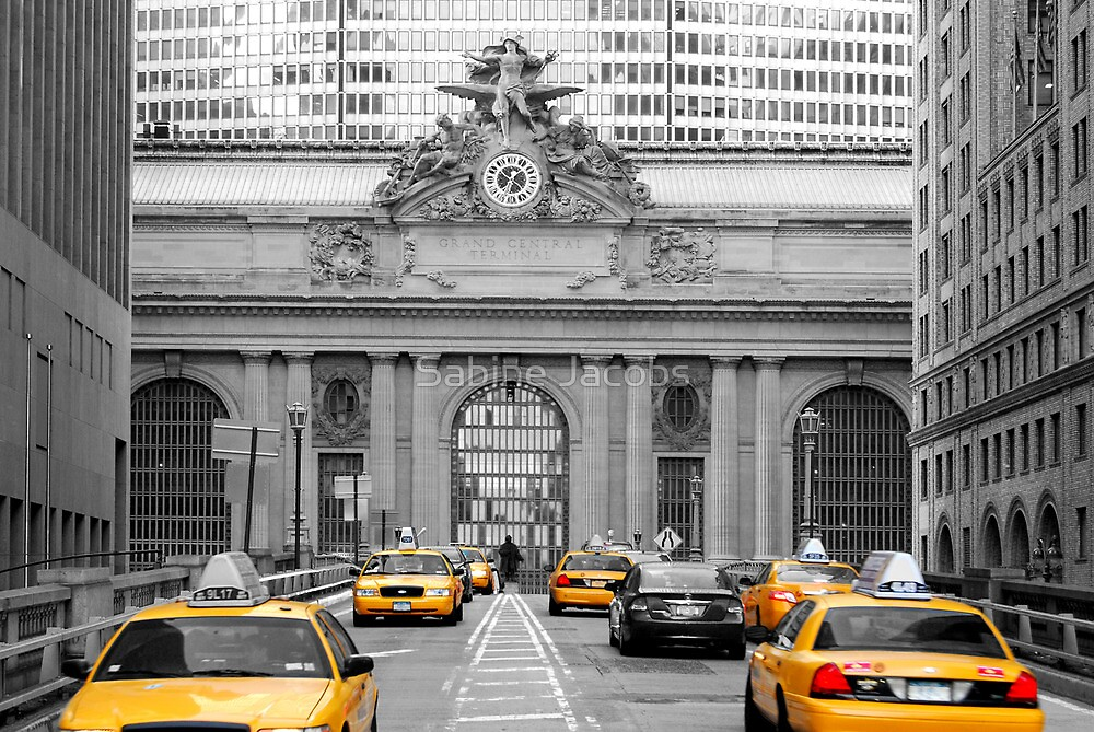 Met Life and Yellow Cabs, New York City, USA by Sabine Jacobs