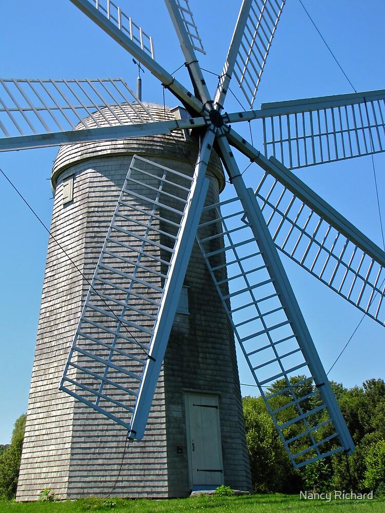 Boyd's wind grist mill by Nancy Richard