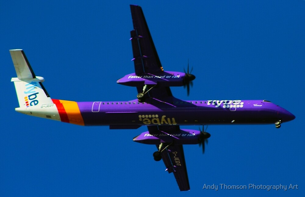 Flybe Dash 8 by Andy Thomson Photography Art