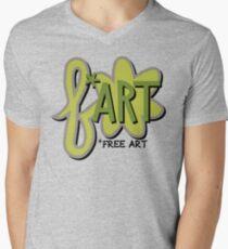 Free + Art = F*ART! Men's V-Neck T-Shirt
