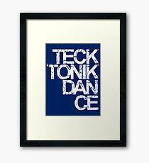 Tecktonik Dance Framed Print
