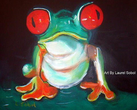 Red Eyed Green Tree Frog  by Laurel Sobol