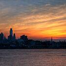 Philadelphia Skyline at Sunset by Michael Mill