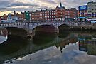 St Patricks Bridge over River Lee in Cork Ireland by Yukondick