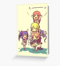 Chibi Fairy Tail Greeting Card
