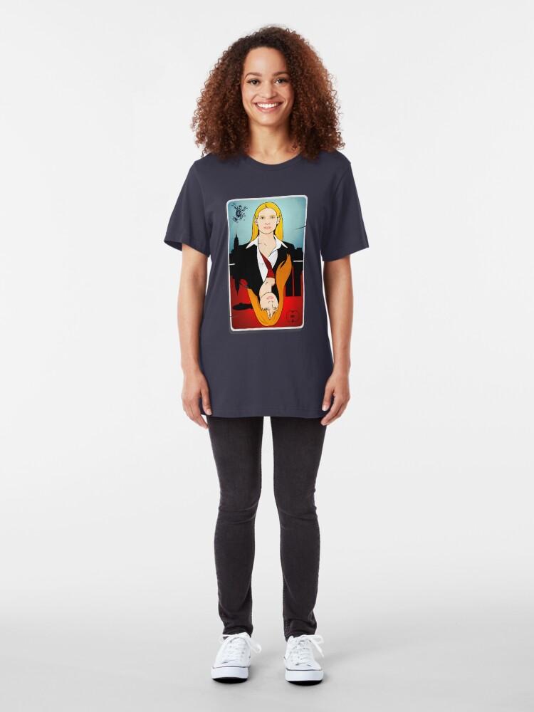 Vista alternativa de Camiseta ajustada Olivia VS Fauxlivia | Franja