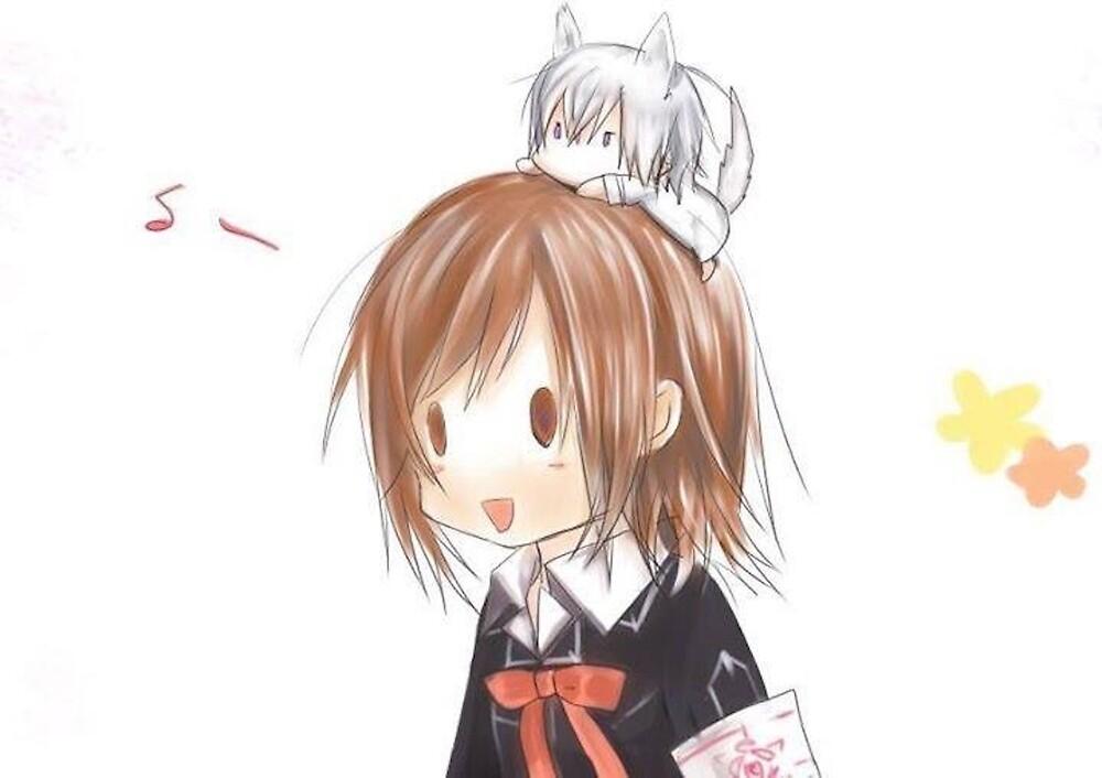 Chibi Yuuki and Zero by foxxykitten
