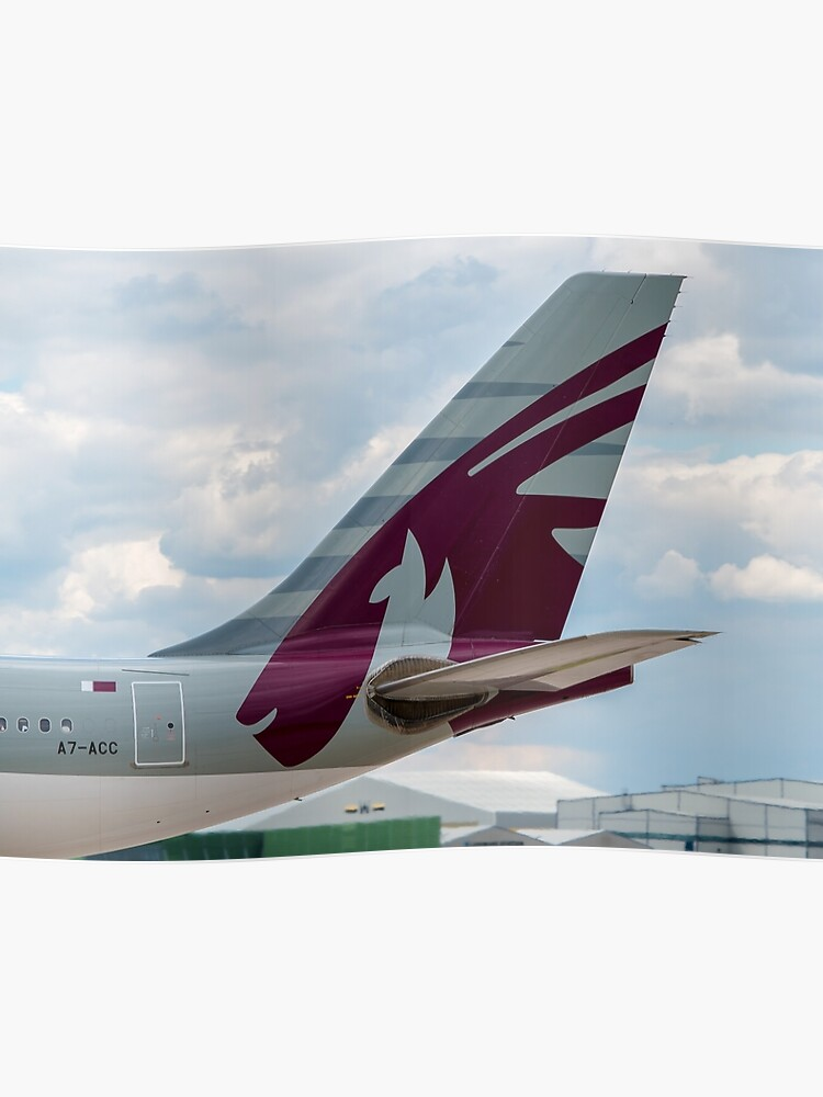 Qatar Airways Airbus A330 tail livery | Poster