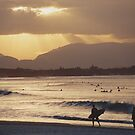 Looking west toward the mountains from Byron Bay by sunranger