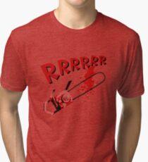 RRRRR Chainsaw Tri-blend T-Shirt