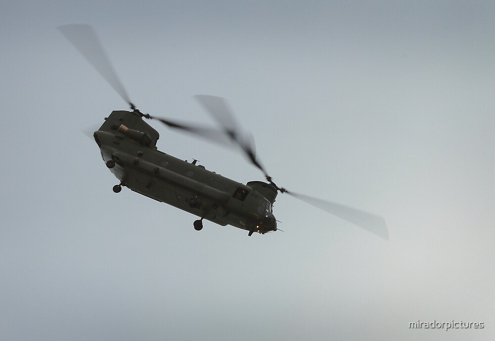 Chinook in flight by miradorpictures