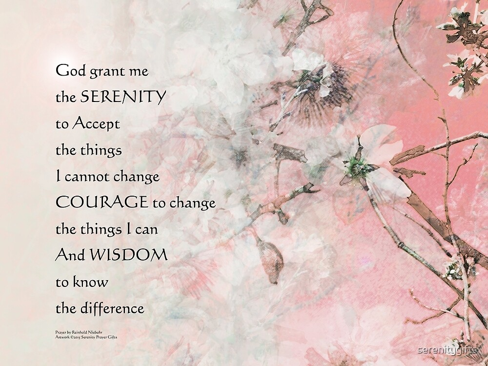 Serenity Prayer Almond Blossoms Pink by serenitygifts