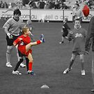 And The Auskicker Kicks The Ball by MissyD