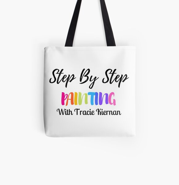 Step By Step Painting With Tracie Logo  All Over Print Tote Bag