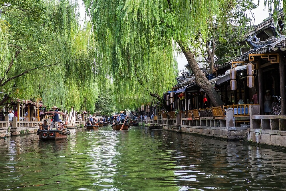 Water Village in Zhouzhuang by Frank Moroni