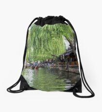 Water Village in Zhouzhuang Drawstring Bag
