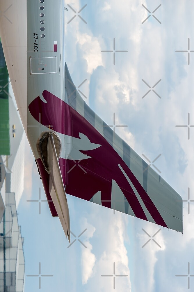 Qatar Airways Airbus A330 tail by Russell102