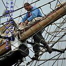 acrobat on a net by NordicBlackbird