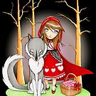 Red Riding Hood and Wolfie by MissCake