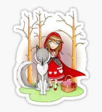 Red Riding Hood and Wolfie Sticker
