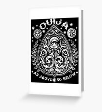 Victorian OUIJA Planchette Greeting Card