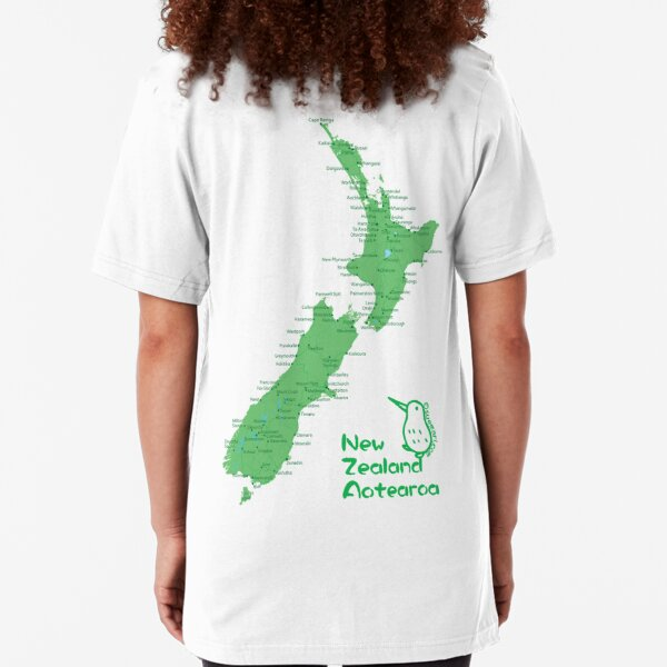 New Zealand's Map Slim Fit T-Shirt