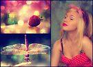Strawberries and Dragonflies... by Carol Knudsen