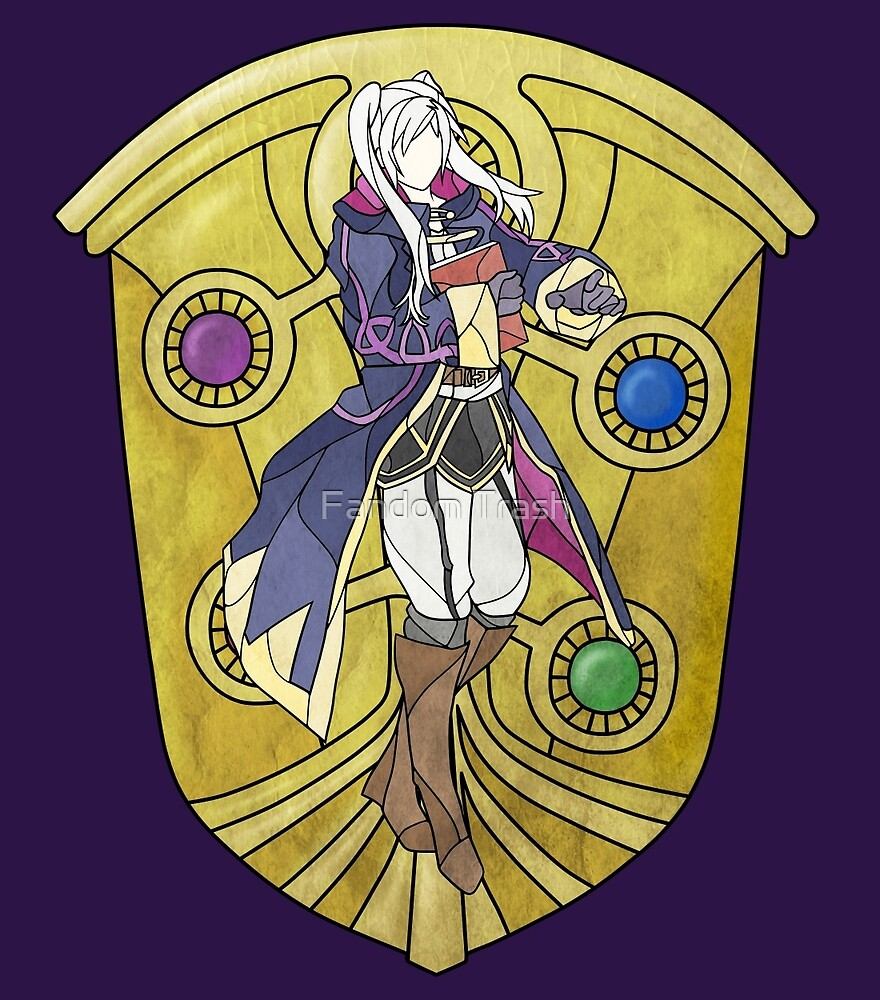 Stained Glass Female Robin by FandomTrash14