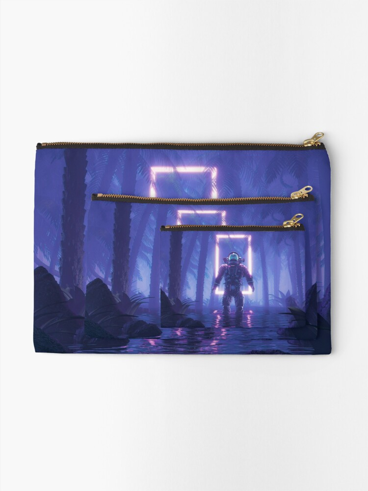 Alternate view of Lost In The Neon Jungle Zipper Pouch