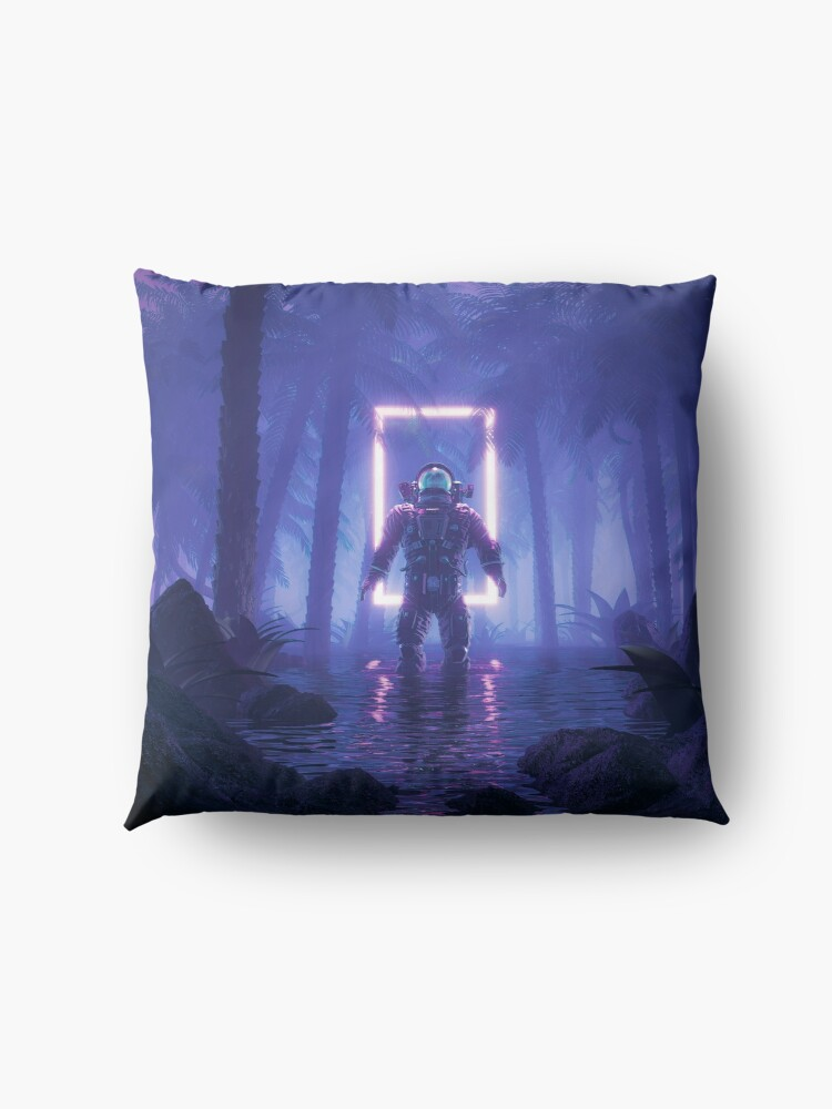 Alternate view of Lost In The Neon Jungle Floor Pillow