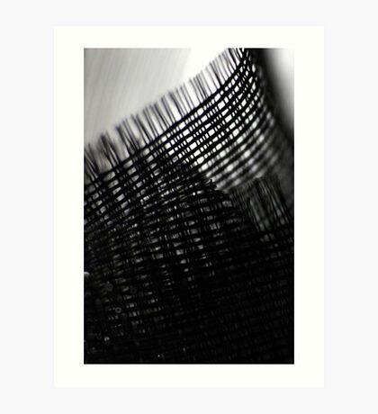 Macro Black Mesh Art Print
