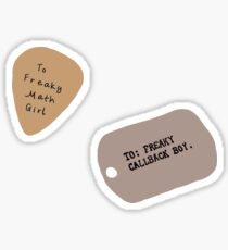 freaky math girl/freaky callback boy SET Sticker