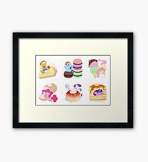 Ponies x Sweets Framed Print